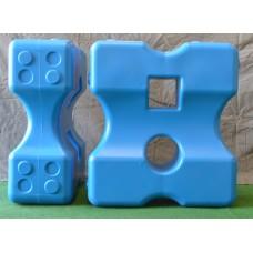 Cavalettiblock Large, Blå