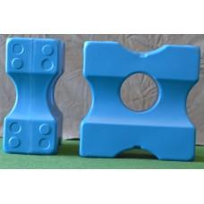 Cavalettiblock Small, Blå 4-pack.